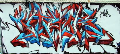 Red-Blue Stack Graffiti