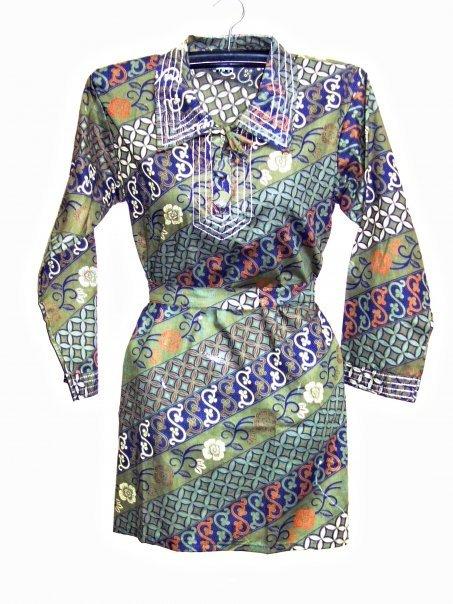 Modern batik fabric batik dress