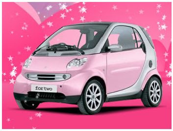 Cheap Car : Pink Smart Car