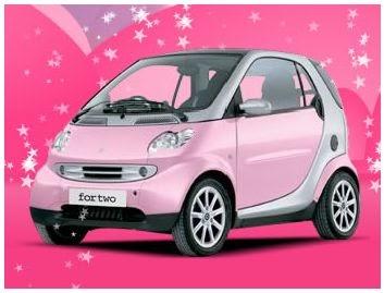 cheap car pink smart car posters. Black Bedroom Furniture Sets. Home Design Ideas
