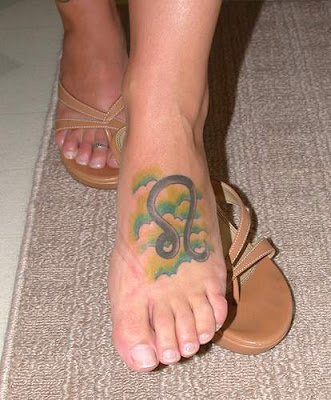 Leo Symbol Tattoos Female: Zodiac Signs