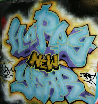 Graffiti Alphabet Happy New Year 2010 - Graffiti Fonts.