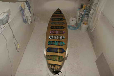 Surfboard designs graffiti