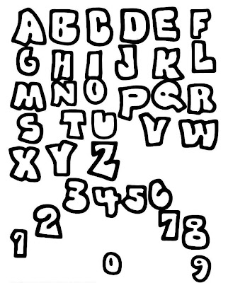 graffiti fonts. alphabet fonts. Graffiti