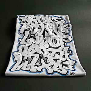 Create Graffiti Alphabet Letters A-Z in the T-Shirts