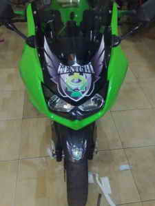 MOTORCYCLE MODIFICATION | Kawasaki Ninja 250 Kenichi Cutting Sticker