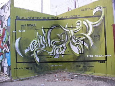 Illusionist Graffiti Alphabet