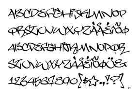 Alphabet Letters Graffiti