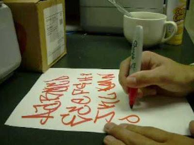 Writing Graffiti Alphabet Letters On Orange Paper. Writing graffiti alphabet letters on orange paper. Enhance your creativity to create wonderful graffiti