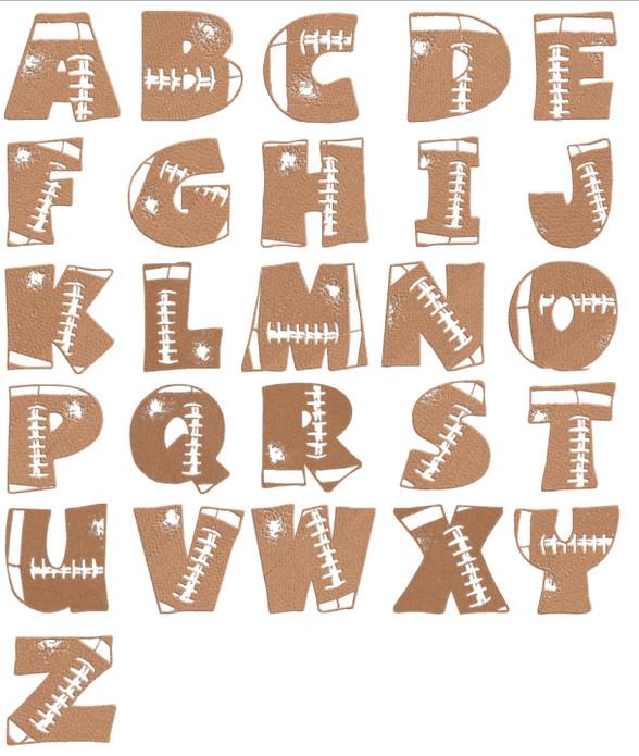 Football Style Graffiti Alphabet Letters