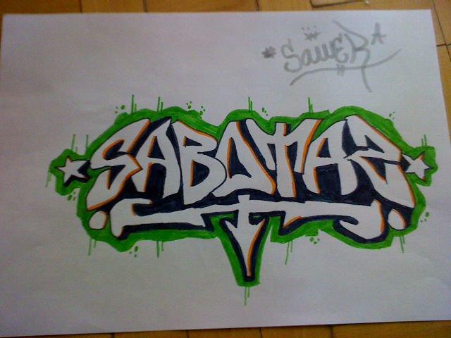 graffiti on paper ...