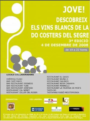 Cartel de la Fiesta del Vino Blanco Joven de Lleida