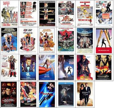 Carátulas películas James Bond