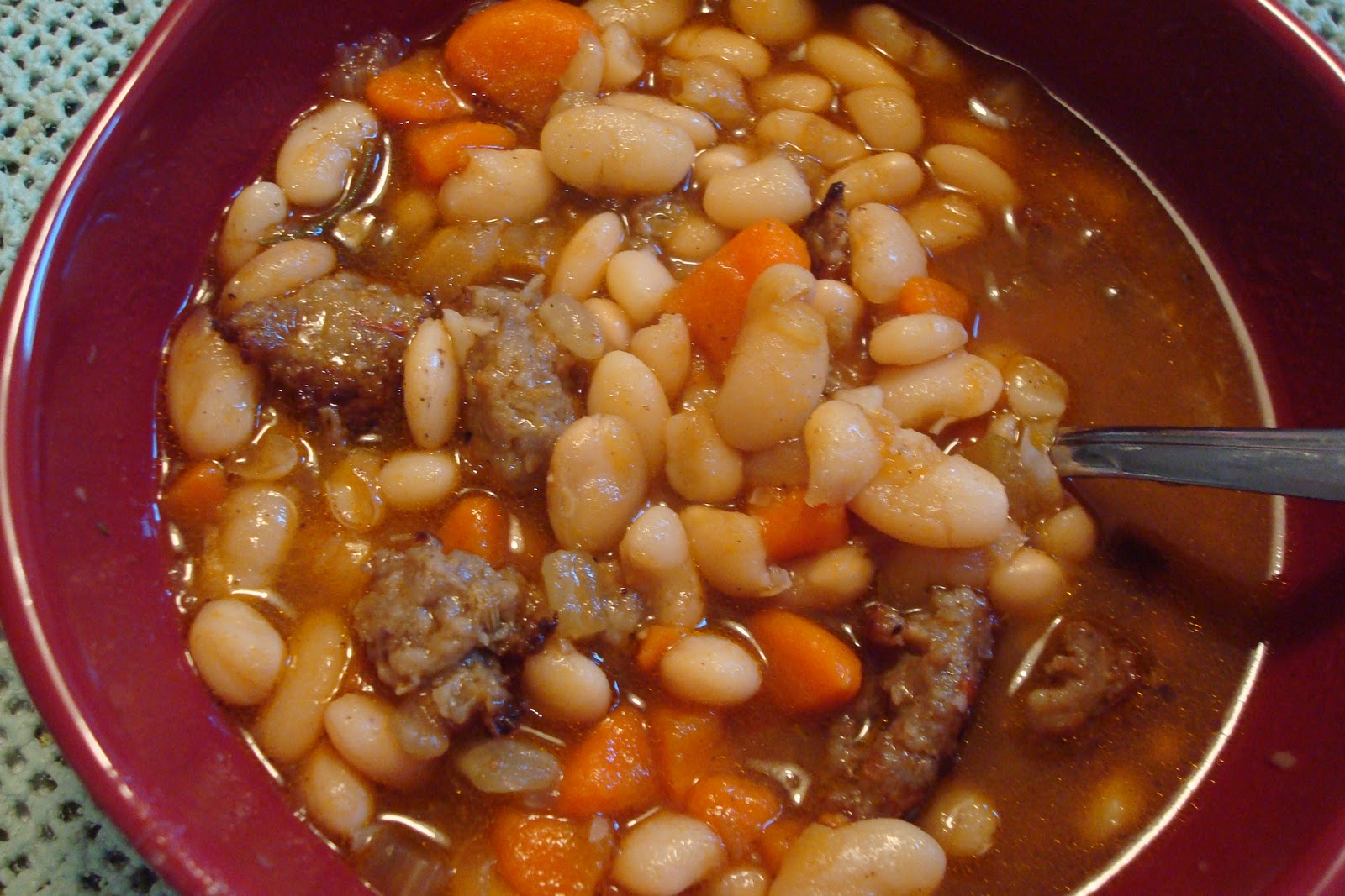 Pumpkin, White Bean And Sausage Stew Recipe — Dishmaps