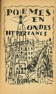 Portada de J.Torres-García a la primera edició del llibre Poemes en ondes hertzianes, 1919.