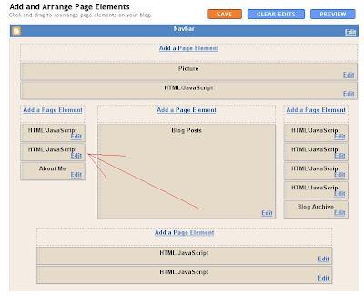 Blogger HTML/Javascript Page Element problem