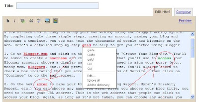 spell check with Google toolbar in Internet Explorer