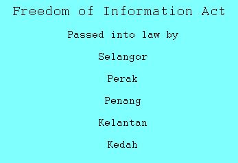 FOI (Freedom of Information) Act