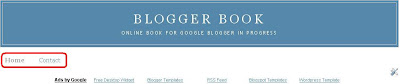 static blogger pages tabs below blog Header