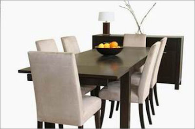 Baxton Studio - Eileen 8-pcs Dining Set in Wenge