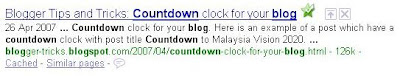 blog title post title in search engine result page