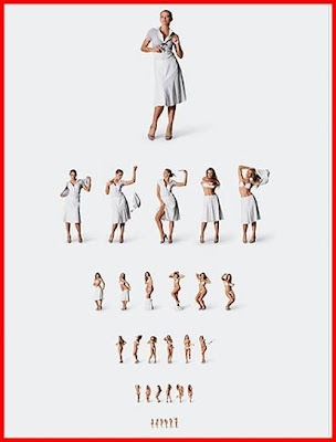 adult strip tease eye chart