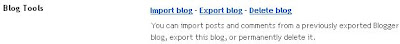 Blogger import export delete blog functions