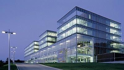 modern building at closer range
