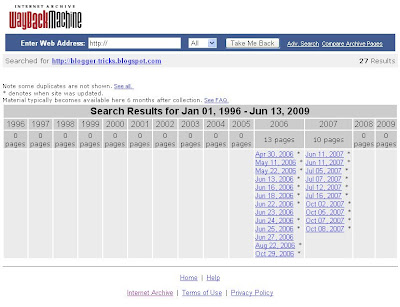 screenshot of archive from Way Back Machine