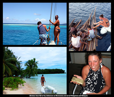 Crew sailing Melanesia