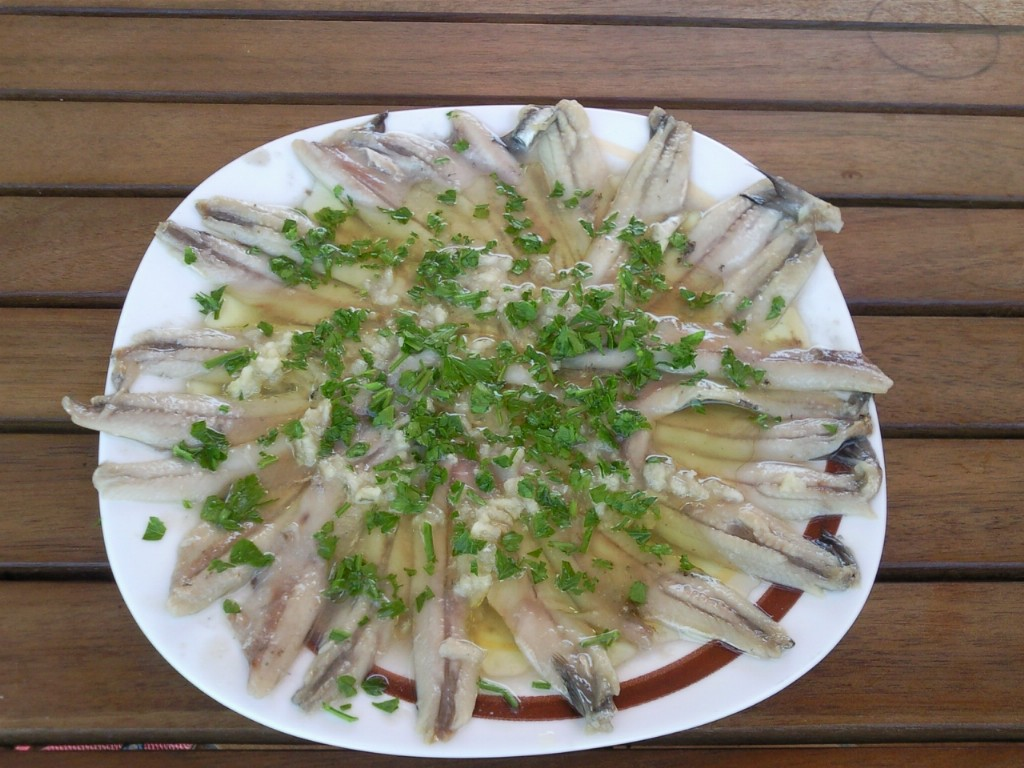 Las recetas de las mellizas boquerones en vinagre - Calorias boquerones en vinagre ...