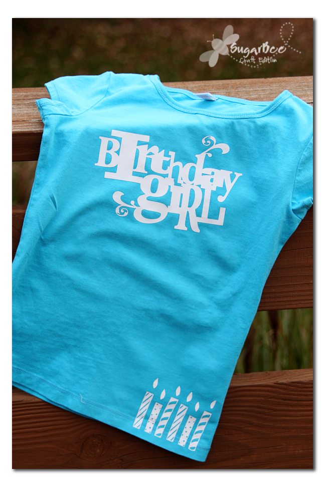 Silhouette heat transfer plus a deal sugar bee crafts for Heat pressed t shirts