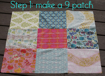 Baby Nine Patch Free Quilt Pattern from ConnectingThreads