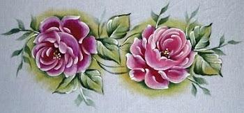 rosas em tecido