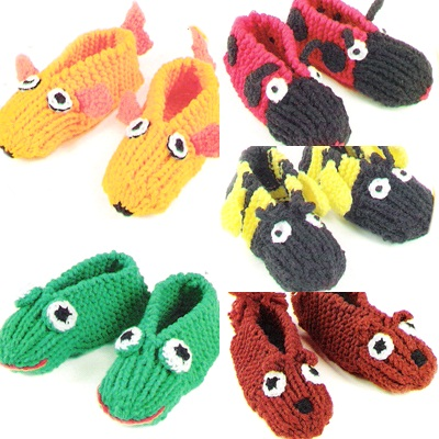 Slippers, Knitted animals and Animals on Pinterest