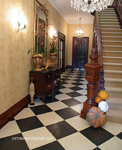 Creative Home Expressions Hooked On Checkerboard Floors