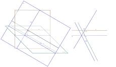 Recta horizontal pertencente a um plano oblíquo - 2
