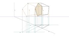 Secção produzida por um plano secante vertical num Prisma Pentagonal