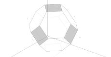 Axonometria Ortogonal de um Octaedro Truncado