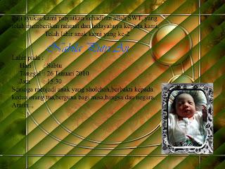 Ucapan Kelahiran Anak