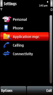Settings Nokia 5800