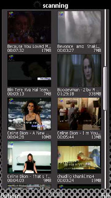 July Player running on Nokia 5800 XM
