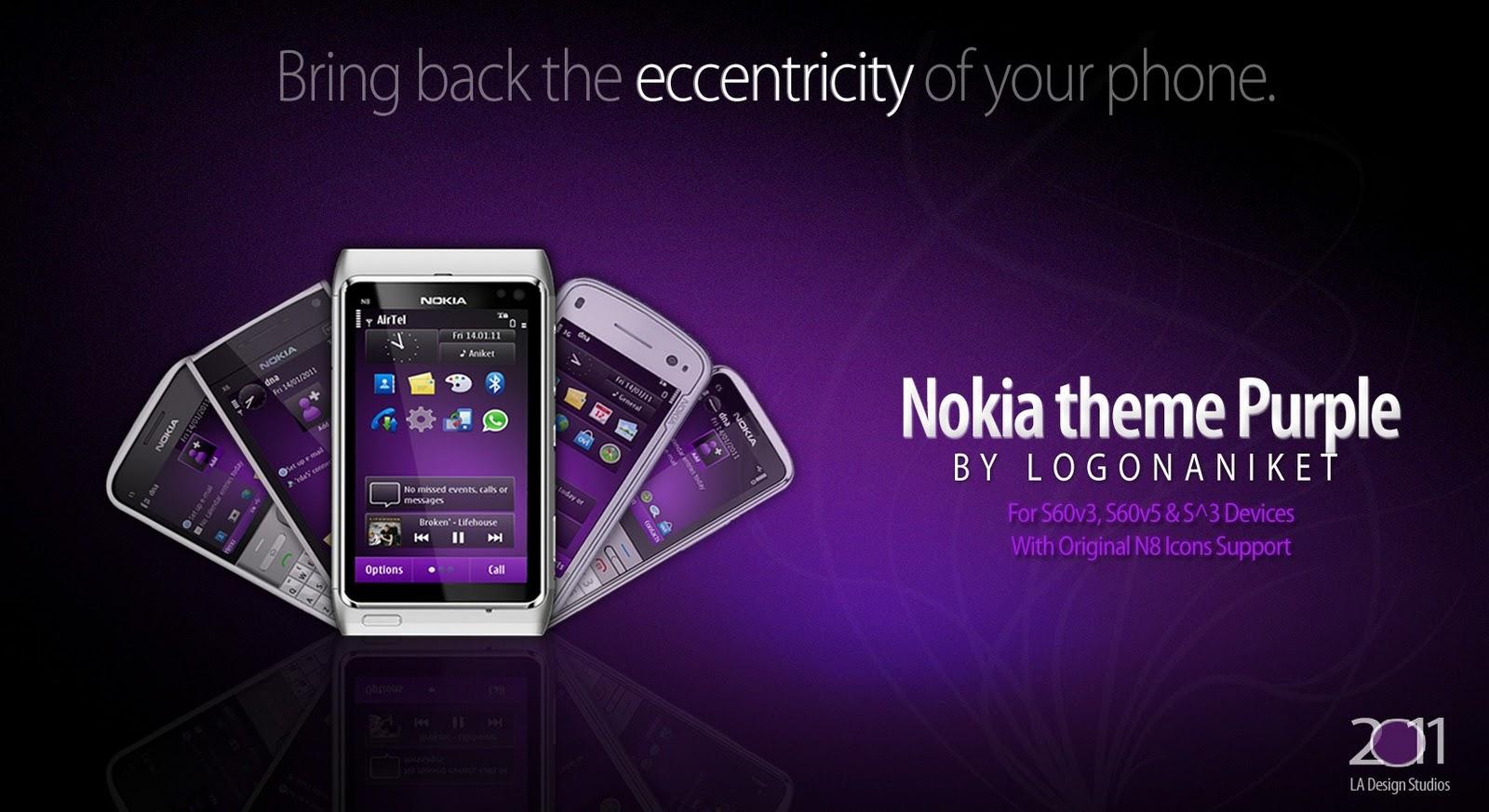 Nokia theme Purble nokia n8