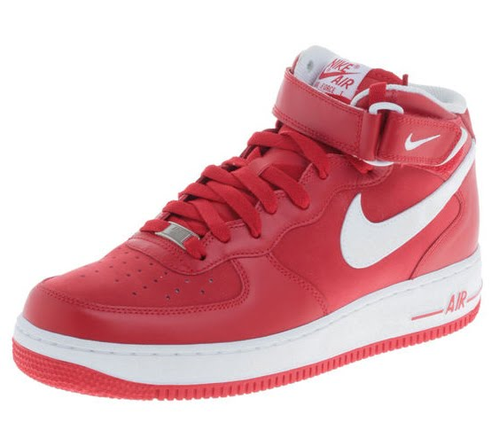 shoes nike air force 1 mid 07 rot und schwarz