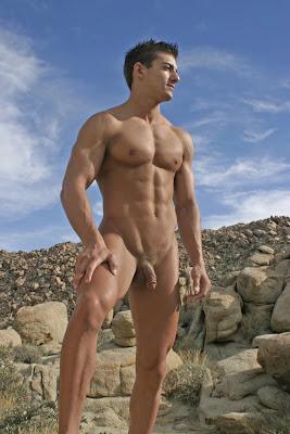 Hombres Desnudos En La Playa