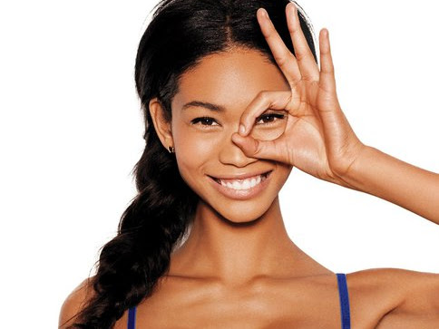 Chanel Iman - Victoria's Secrets PINK Multi Way Bra