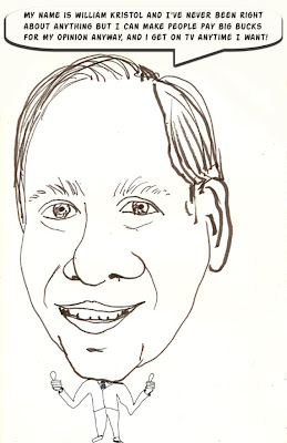 William Kristol cartoon, a rare moment o of honesty for Bill