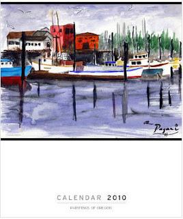 2010 Oregon fine art paintings calendar calender