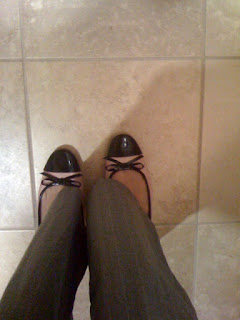 pink and black heels @ Brittany's Cleverly Titled Blog