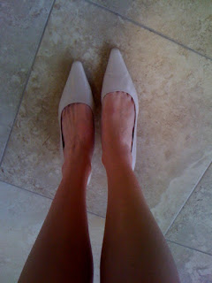 beige heels @ Brittany's Cleverly Titled Blog